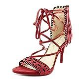 Jessica Simpson Women's Mareya Fringe Sandal,Raging Red Lux Kid Suede,US 6 M