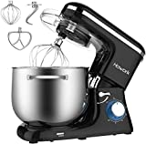 HOWORK Stand Mixer, 8.45 QT Bowl 660W Food Mixer, Multi Functional Kitchen Electric Mixer With Dough Hook, Whisk, Beater, Egg White Separator(8.45 QT, Black)