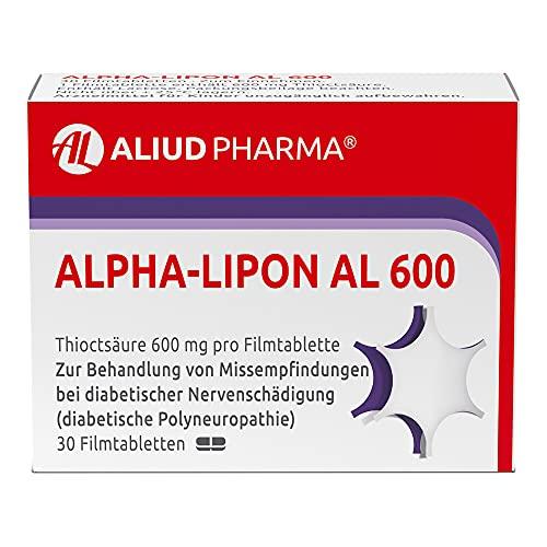 ALPHA-LIPON AL 600 Tabletten zur Behandlung von Missempfindungen bei diabetischer Nervenschädigung, 30 St. Tabletten