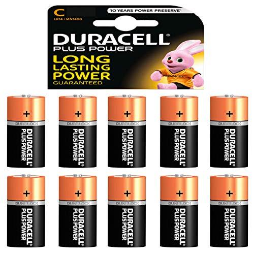 10 x Duracell 1,5 V Baby C/ LR14/ AM2/ 4014/Alkaline Batterie