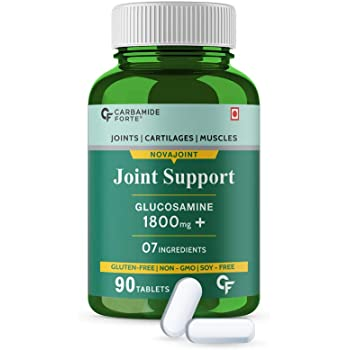 Carbamide Forte Joint Pain & Support Supplement with Glucosamine 1800mg, Chondroitin 450mg Per Serving– 90 Tablets