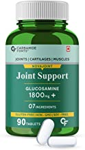 Carbamide Forte Joint Pain Support Supplement with Glucosamine 1800mg, MSM 1005mg & Chondroitin 450mg Per Serving – 90 Tab...