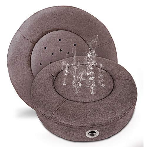 RONG HOME Rauchlose Moxibustion Kissen einstellbare Temperatur sitzende Moxibustionstuhl, geeignet für den Einsatz am Bauch, Gesäß, Füße und Rücken,Braun