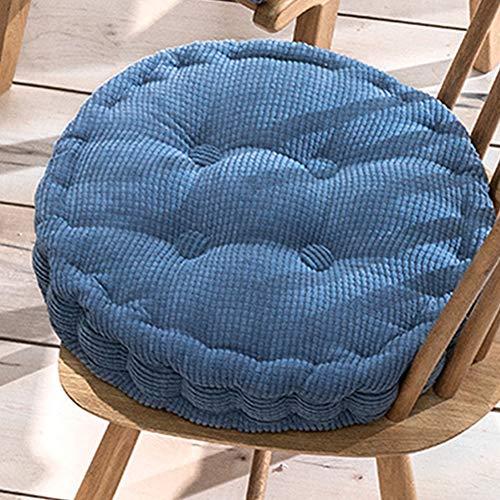 Cojín para silla de comedor, cojín para respaldo de sillón, cojín grueso de asiento para sillas de cocina, cojines acolchados cuadrados redondos (45 x 45 x 10 cm, K)