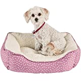 Harmony Pink Dot Nester Dog Bed, 20' L x 17' W, X-Small, Pink / White