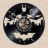 wtnhz LED-Reloj de Pared diseño Moderno Retro decoración de la Sala de Estar Reloj de Vinilo clásico Reloj de Pared decoración del hogar 12 Pulgadas silencioso 12 Pulgadas