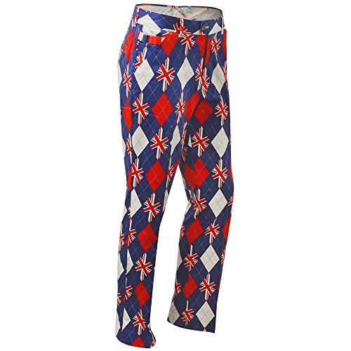 Royal & Awesome Men's Golf Pants, Trew Brit, 34W x 34L