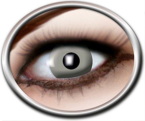 Zoelibat Eyecatcher Motivlinsen - Vampire Grey m33 - farbige 3-Monats-Kontaktlinsen - zu Vampir Geist Halloween Cosplay Kostüm