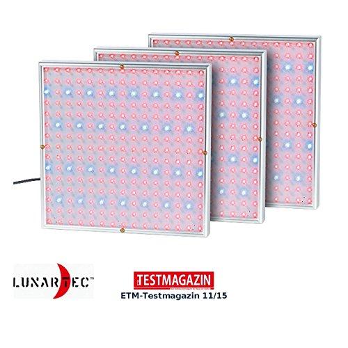 Lunartec LED Panel Pflanzenlicht: Profi LED-Pflanzen-Wachstums-leuchtpanels, 225 LEDs, 3er-Set (Growlampe)