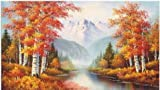 WCI 3D Effect Big 23.5' x 31.5' Lenticular/Poster Stereoscopic Print Paint Plastic Picture - Trees Near River Fall