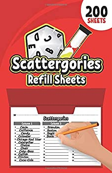 Scattergories Refill Sheets  Answer Pads for Playing the Classic Scattergories | Paper Sheets Compatible with the Scattergories Folder