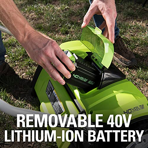 GreenWorks DHF301 14-In 40V Cordless Dethatcher/Scarifier with Battery and Charger