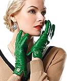 NappaNovum Guantes de piel de cordero para mujer, flexibles, multicolores, clásicos, cálidos guantes de invierno