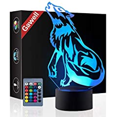 ❤❤ 3D visual creative lamp is an innovative artistic atmosphere light, optical acrylic light guide plate engraving a variety of 2D graphics, 3D visual impact. Unique lighting effects amazing optical visual illusion home decor lamp, It makes your room...