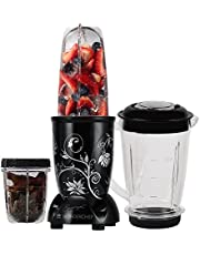 Wonderchef Nutri-Blend, 22000 RPM Mixer-Grinder, Blender, SS Blades, 3 Unbreakable Jars, 2 Years Warranty, 400 W-Black, Includes Exclusive Recipe Book by Chef Sanjeev Kapoor