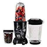Nutri-Blend, 22000 RPM Mixer-Grinder, Blender, SS Blades, 3 Unbreakable Jars, 2 Years Warranty, 400 W-Black, Includes Exclusive Recipe Book By Chef Sanjeev Kapoor