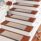 Pergamon Trend Nadelfilz Stufenmatte Bent Beige Braun Mix (eckig) einzeln oder im 15er Set