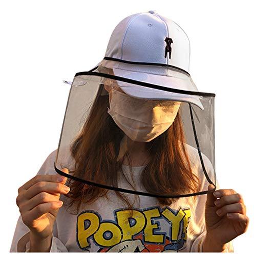 Baseball Caps, Sonnenhut Damen Sommerhut Anti Saliva Gesichtsschutz, Anti-Staub und Anti-Allergie-Transparent Schutzhelm