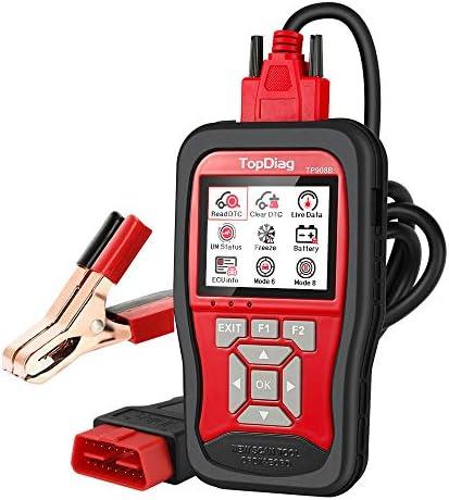 TopDiag Universal Car Code Reader 12V Battery Tester OBD2 Scanner 2 in 1 Auto Diagnostic OBDII product image