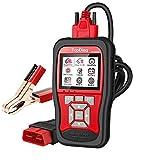 TopDiag Universal Car Code Reader & 12V Battery Tester OBD2 Scanner 2 in 1 Auto Diagnostic OBDII EOBD Scan Tool O2 Sensor Engine Test for All Cars OBDII Protocol,2021 Version