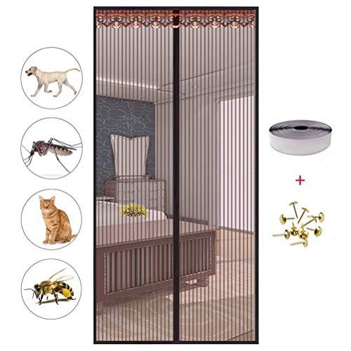 Sommer Türvorhang,Magnetvorhang Fliegengitter Magnet Insektennetz Fenster TüRschließEr Insektenschutz SchiebetüR Fliegenvorhang FüR TüRen Windhager Insektenschutz-150 * 200Cm
