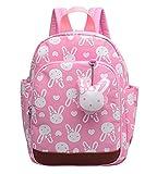 DNFC Kindergartenrucksack Kinderrucksack Mädchen Jungen Kindergartentasche Babyrucksack Schöne Kindertasche Kindergarten Schulrucksack Kleinkinder Rucksack Kinder Schultasche Backpack (Pink)