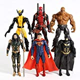 Cylficl Superman Wolverine Deadpool Aquaman Thing PVC Action Figure Toys 6pcs / Set
