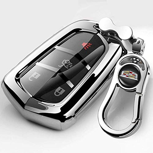 Car Key Cover Suit for Cadillac 4 5 6 Buttons 3D Bling keyless Entry Remote Smart Key Fob case Cover for 2016 2017 2018 2019 2020 for Cadillac CT6 XT5 CTS XTS SRX ATS DTS STS Accessories