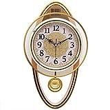 AMYZ Reloj silencioso Dormitorio Sala de Estar Columpio silencioso Reloj de Cuarzo Creativo Decoración Pastoral Reloj de Cuarzo,A
