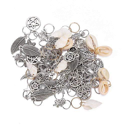 Accesorio para el cabello, anillo de cuentas de rastas, duraderos 13 tipos de anillos para el cabello, seguro de usar, materiales metálicos de alta calidad, herramientas de vestuario