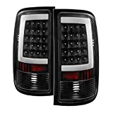 Xtune ALT-ON-GS07-G2-LED-BK Tail Light (GMC Sierra 1500 07-13 2500HD/3500HD 07-14 (does not fit 3500HD Dually Models) LED s - Black)