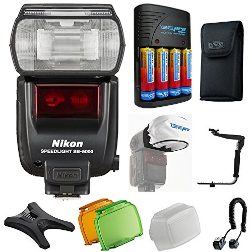 Nikon SB-5000 AF Speedlight + Pixi-Advanced Accessory Bundle