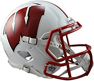 Riddell Sports NCAA Wisconsin Badgers Speed Authentic Helmet, White