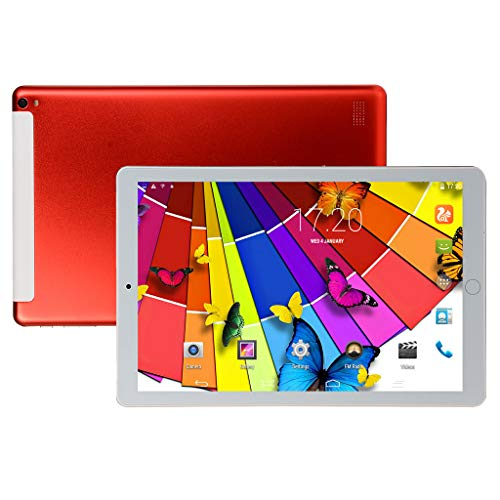 DZWSD Tablet PC Android de 10.1 Pulgadas,CPU de Cuatro Núcleos,Pantalla Táctil IPS,4GB RAM 16GB ROM,WiFi,Ranura para Tarjetas SIM Dual,GPS.