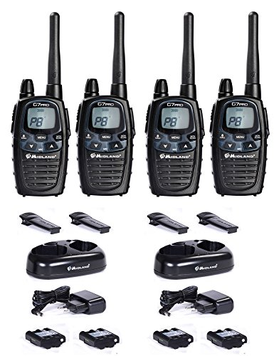 Midland G7 Pro Basic maletín Two-Way Radio dispositivo móvil walkie-talkies 4 unidades