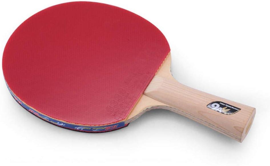 YXYXX 9 estrellas Juego de Raquetas de Ping Pong, agresivo Raquetas de Tenis de Mesa, jugador intermedio, jugador avanzado y jugador profesional / 9 estrellas/long handle
