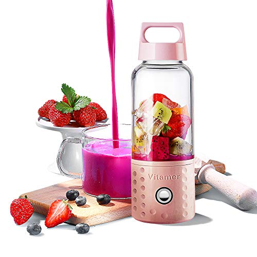 Personal Smoothie Blender, Kacsoo J650 Detachable Portable Blender Fruit Mixer, High Speed Single...