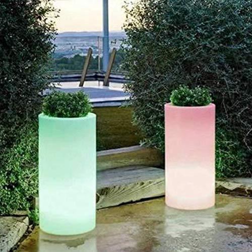 Jardinière, Pot, Seau à Glace avec lumière LED RGB, 40x80cm, télécommande et Batterie Rechargeable