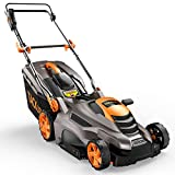 TACKLIFE Lawn Mower, 16'' & 13 Amp Electric Lawn Mower, 5 Adjustable Heights (0.78''- 2.76''), Fast Assembly & Compact Storage