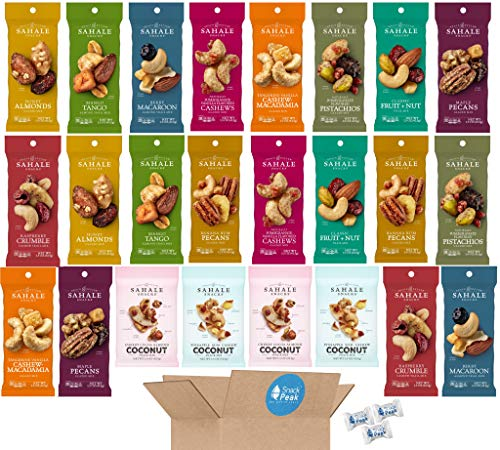 Sahale Snack Peak Variety Gift Box – 24 (1.5 oz) packages –12 Unique Nut Mix Flavors