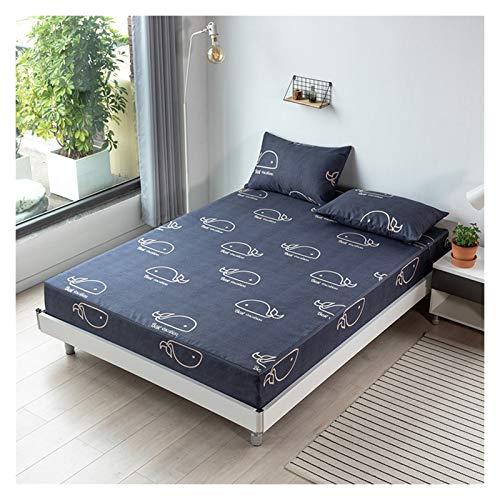 Sängkläder Sexsidig All Inclusive Bäddmadrassen Andas Fade Resistent Sängöverkast Lätt Att Tvätta Elastic Borstad Fabric (Color : A, Size : 180X200+25cm)