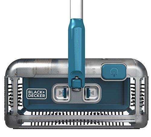 Black+Decker PSA115B-QW 3.6V, 1.5Ah Lithium Akku-Kehrbesen, Laufzeit 30 min, für kurzflorigen Teppiche und Hartböden, kabellos, beutelos, aufladbar, weiss, PSA115B, Acrylic, 300 milliliters, Blau - 5