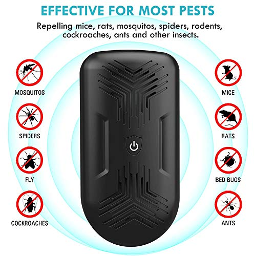 D&XQX Ultrasons antiparasite Plug-in Pest Control...