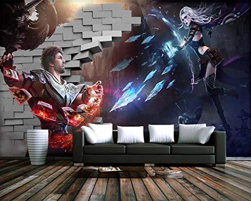 RTYUIHN 3D Wallpaper Broken Anime Game Wall Wallpaper Living Room Bedroom Wallpaper Wall 3D Background Wall