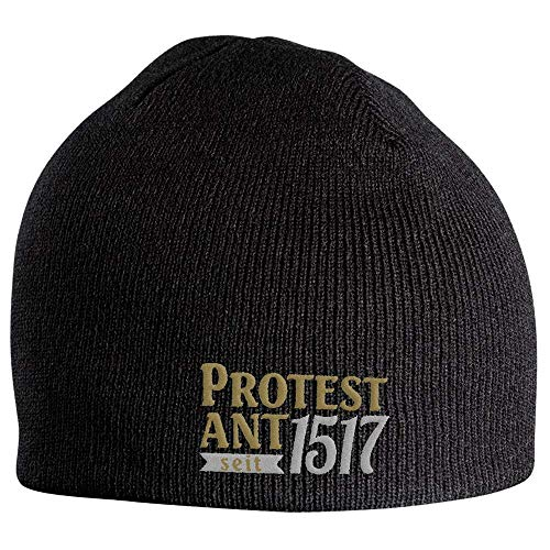 Fan-O-Menal Beanie Mütze Martin Luther Protest Ant seit 1517 54614 schwarz