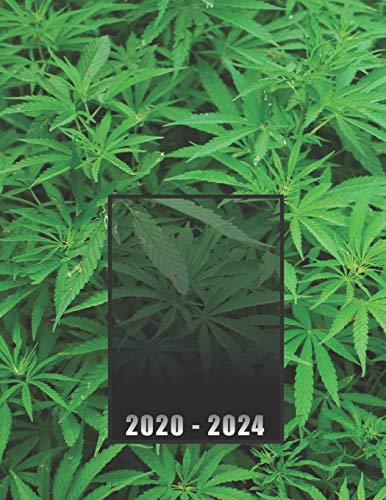 2020 – 2024: Logbook / 5 Year Planner / 60 Months Agenda (Jan – Dec), year at glance + 2 page monthly layout + notes, desktop notepad / industrial cannabis growing