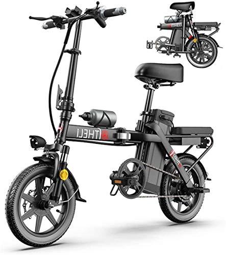 Bici electrica, Las bicicletas eléctricas plegable inteligente bicicleta de montaña for adultos de ciclo con 3 modos de montar a caballo, E-Bici Velocidad máxima 25 KM / H, tres pasos de plegado, Ecol
