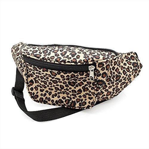 Allsorts® Brown Leopard Print Bum Bag / Fanny Pack - Festivals /Club Wear/ Holiday Wear