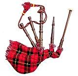 Escocesa Junior Jugable Gaitas Niños Juguete Miniatura Tartán Bolsa y Tubos de Palisandro