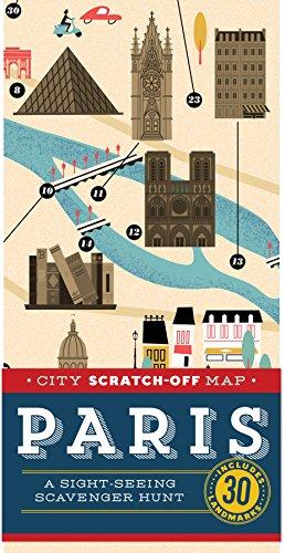 City Scratch-Off Map: Paris: A Sight-Seeing Scavenger Hunt